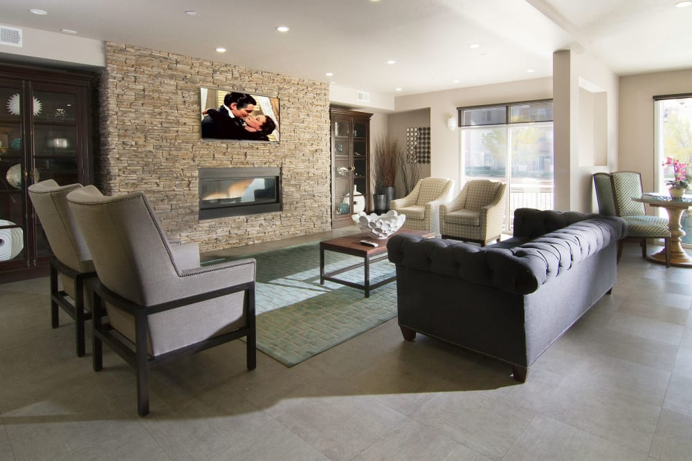 Fully equipped living area at 644 City Station in Salt Lake City, Utah