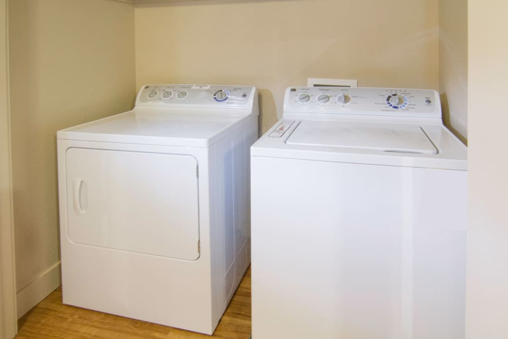 In-unit washer and dryer available at 644 City Station in Salt Lake City, Utah