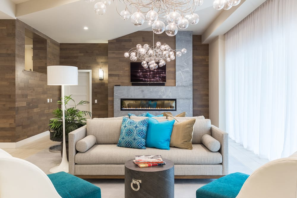 CitySide Apartments's beautiful clubhouse interior with seating