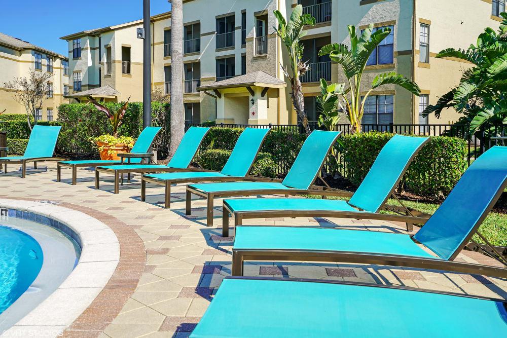 Verandahs of Brighton Bay poolside seating