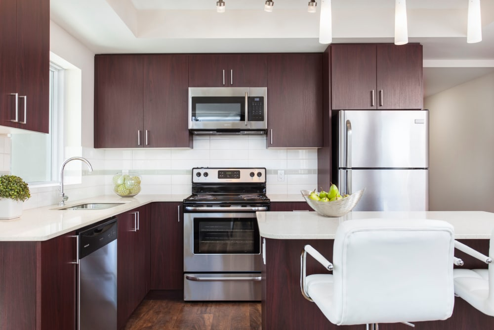 Elata offers a fully equipped kitchen in Calgary, Alberta