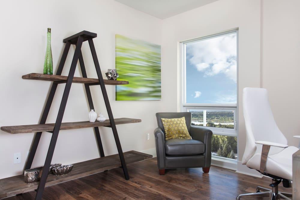 Modern interior decoration at Elata in Calgary, Alberta