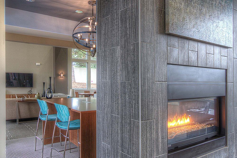 Nice fireplace at Sandpiper Apartments in Holladay, Utah