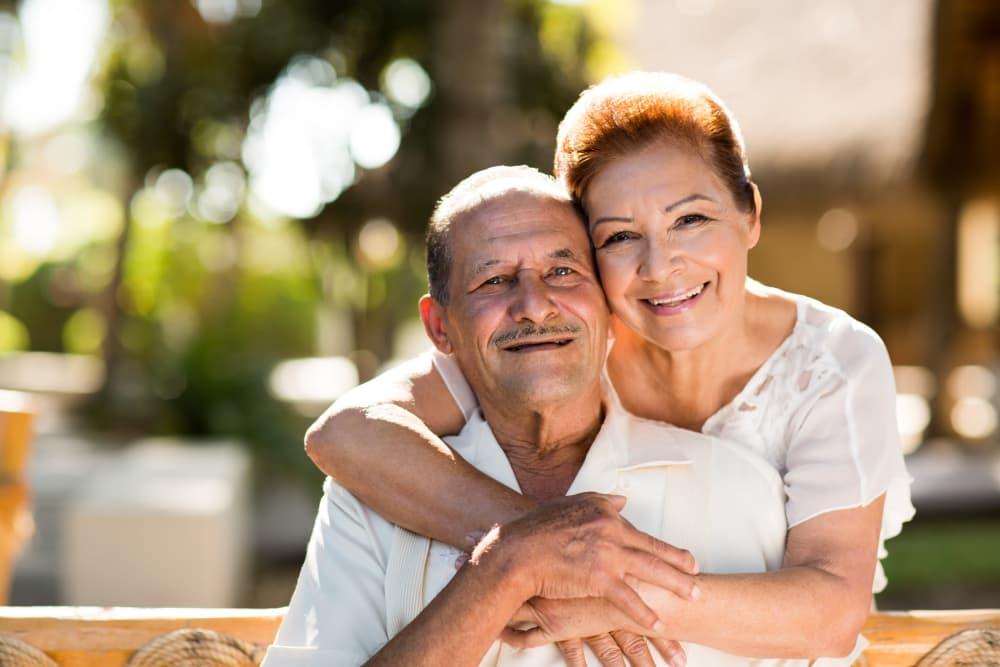 Happy couple at Healdsburg, A Pacifica Senior Living Community