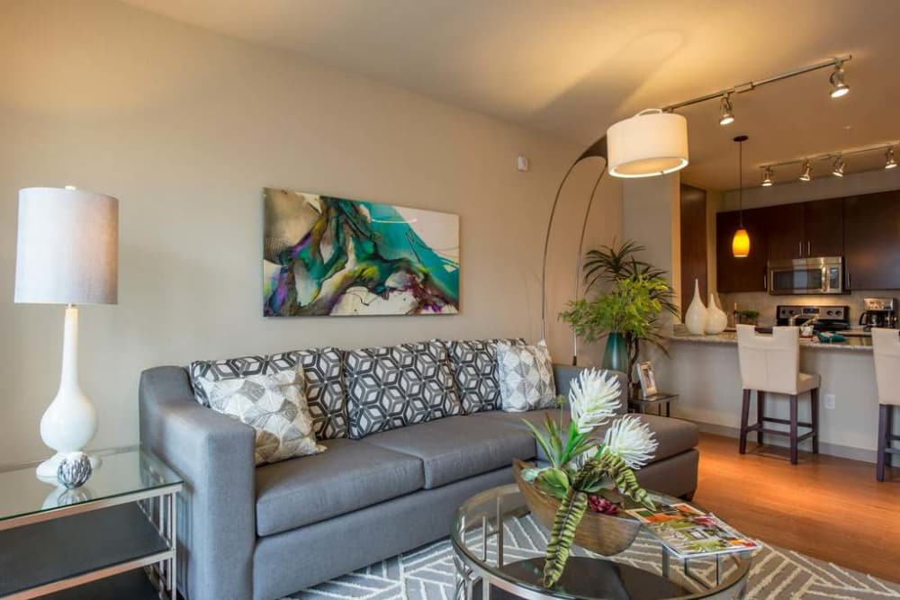 Imperial Lofts offers a luxury living room in Sugar Land, Texas