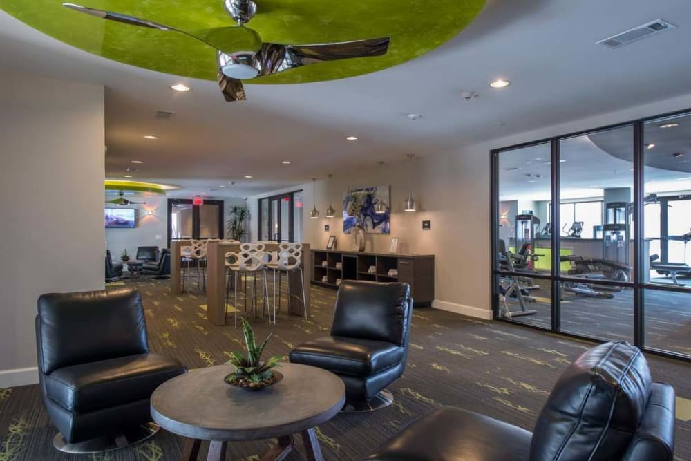Gorgeous Resident lounge at Imperial Lofts in Sugar Land, Texas
