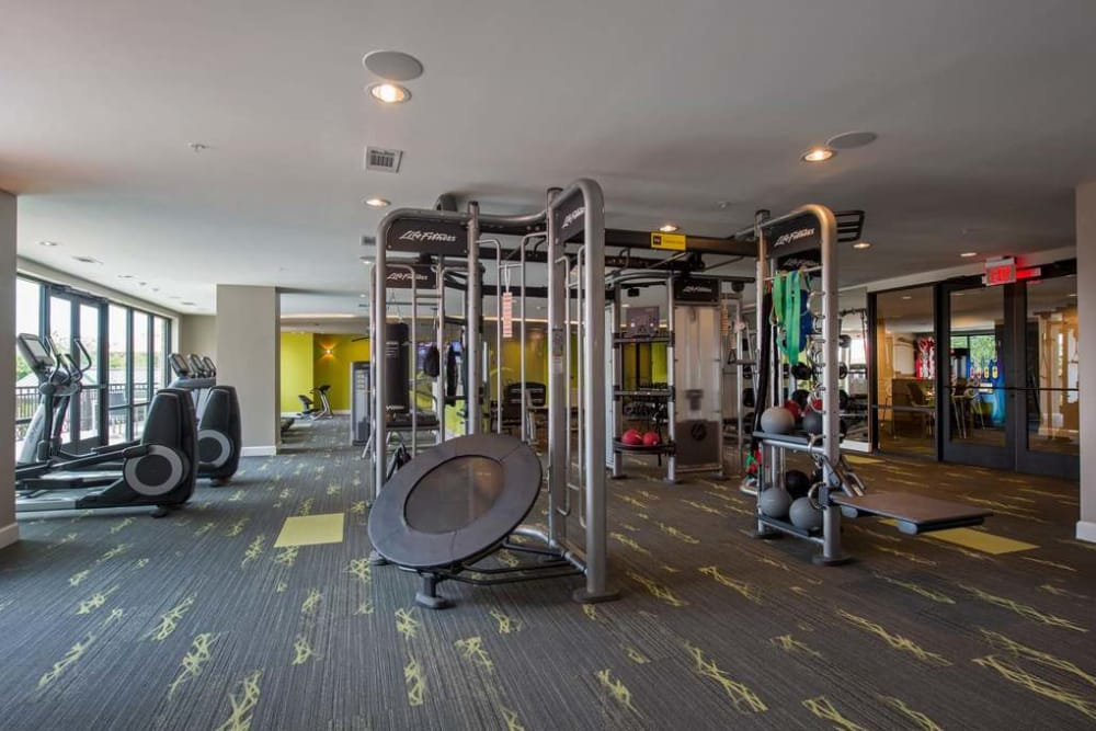 Imperial Lofts's Fitness center equipment in Sugar Land, Texas