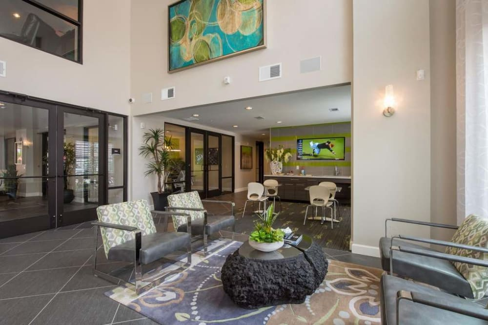 Our leasing center at Imperial Lofts in Sugar Land, Texas