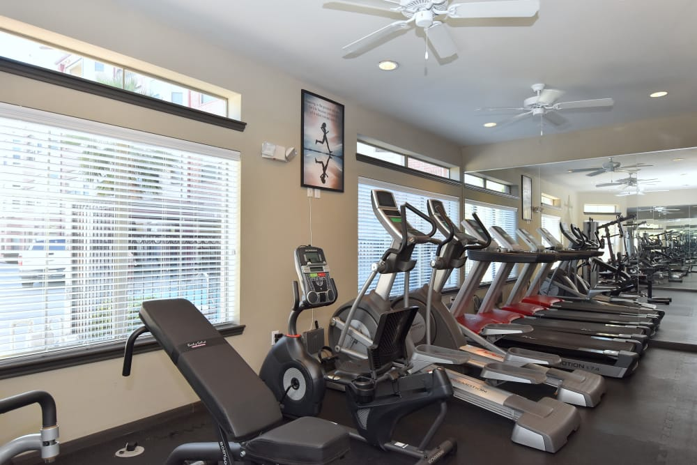 Onsite fitness center at Midtown Grove Apartments