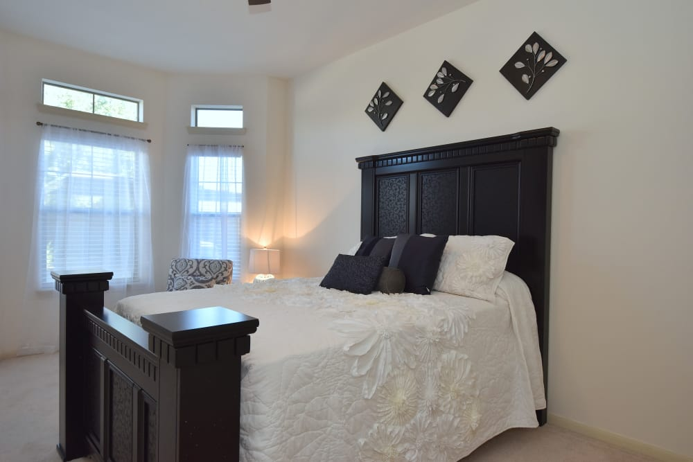 Bedroom with natural light at Midtown Grove Apartments