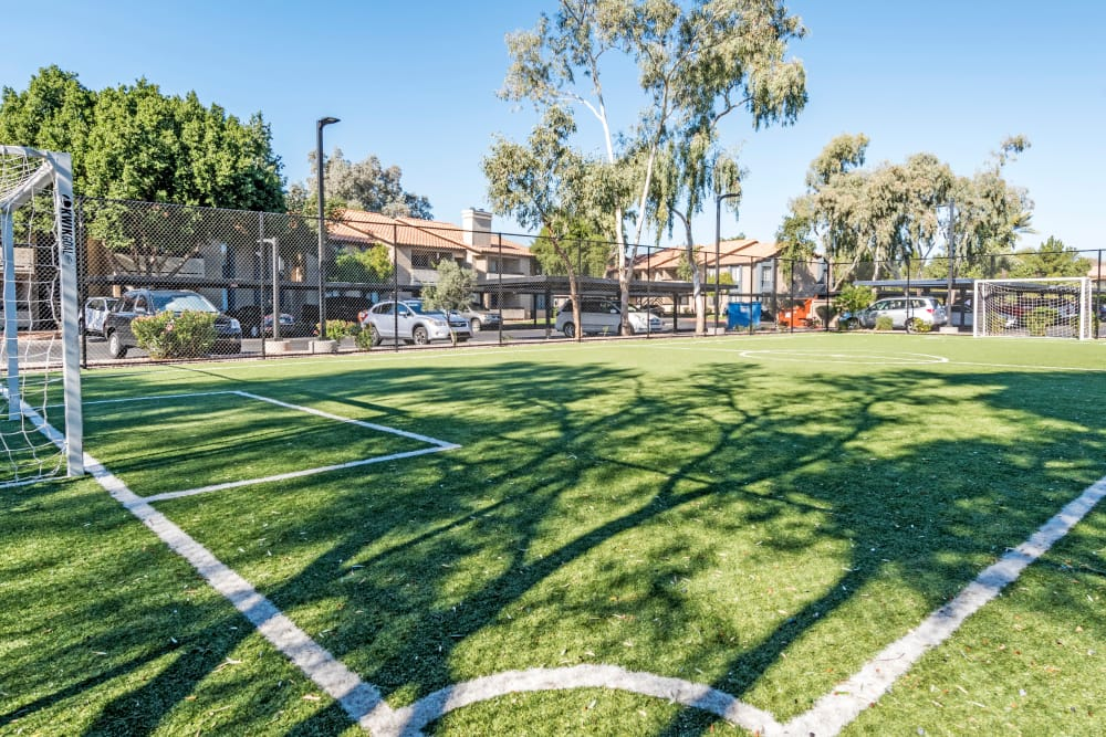 Soccer field at Elliot's Crossing Apartment Homes in Tempe, Arizona