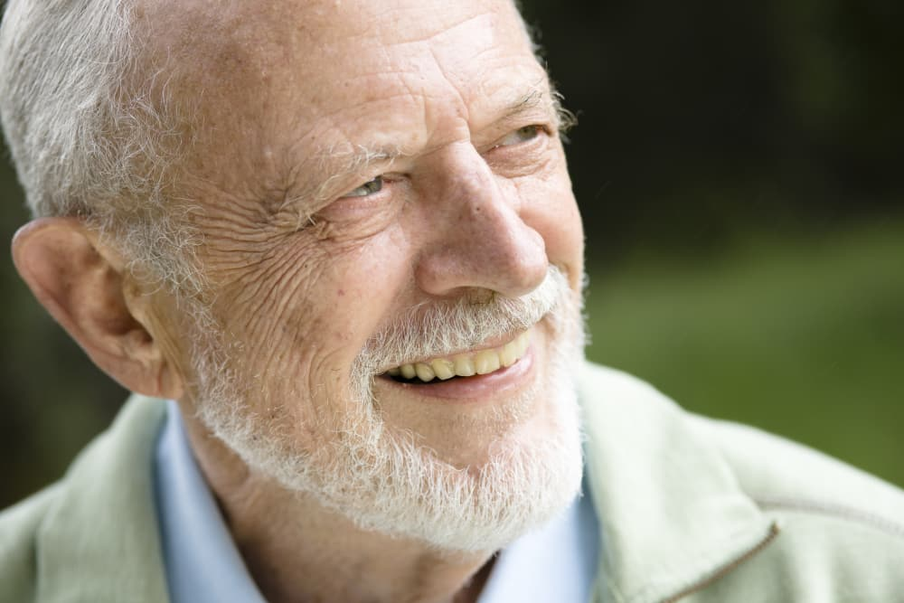 Happy resident at MuirWoods Memory Care in Petaluma