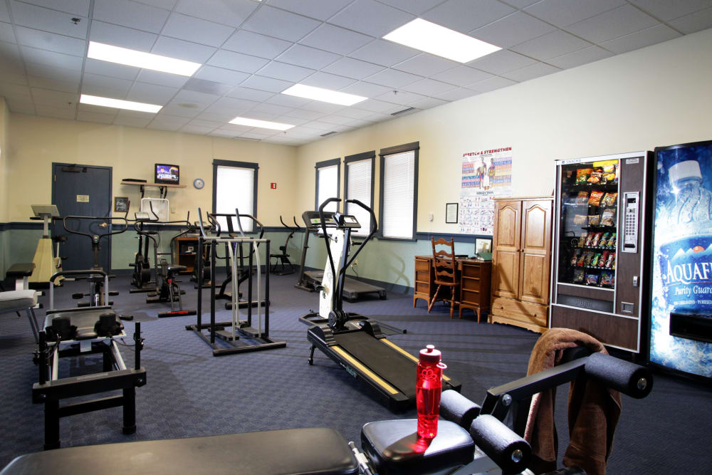 Fitness center inside of Crystal Terrace of Klamath Falls in Klamath Falls
