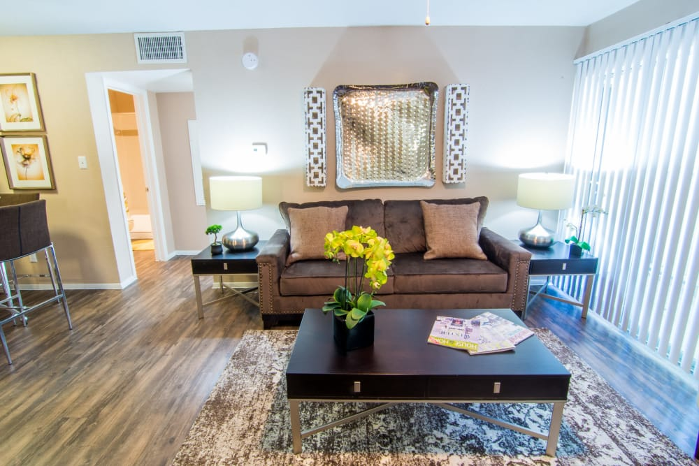 Coffee table at Deerbrook Forest Apartments