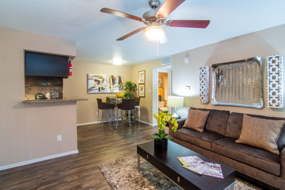 Open floor plans at Deerbrook Forest Apartments