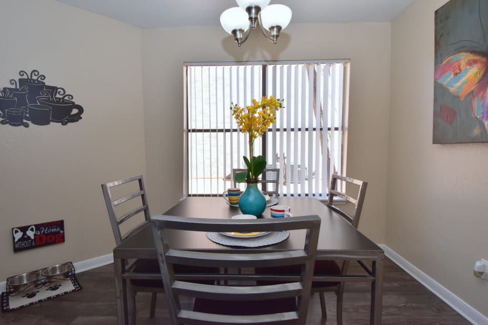 Dining room at Green Meadows Apartments