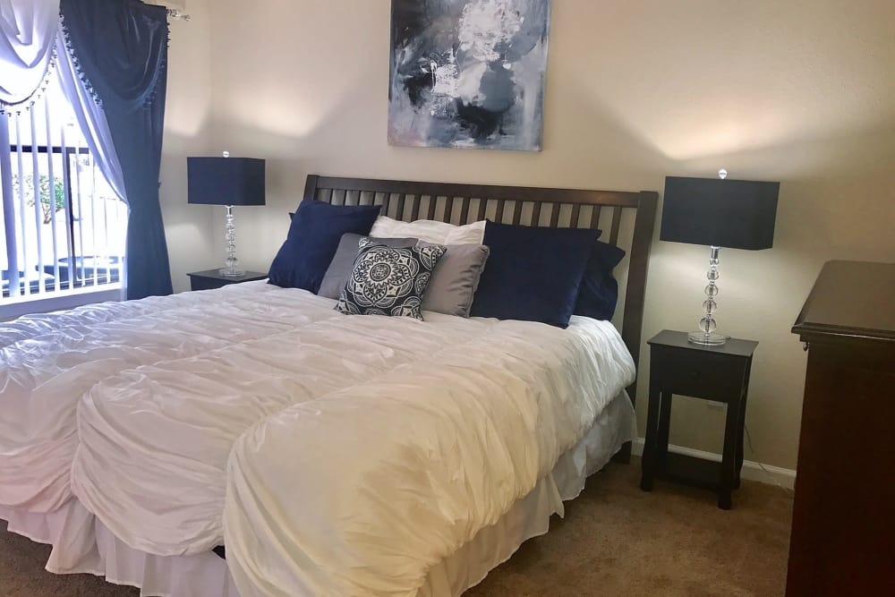 Bedroom at Green Meadows Apartments