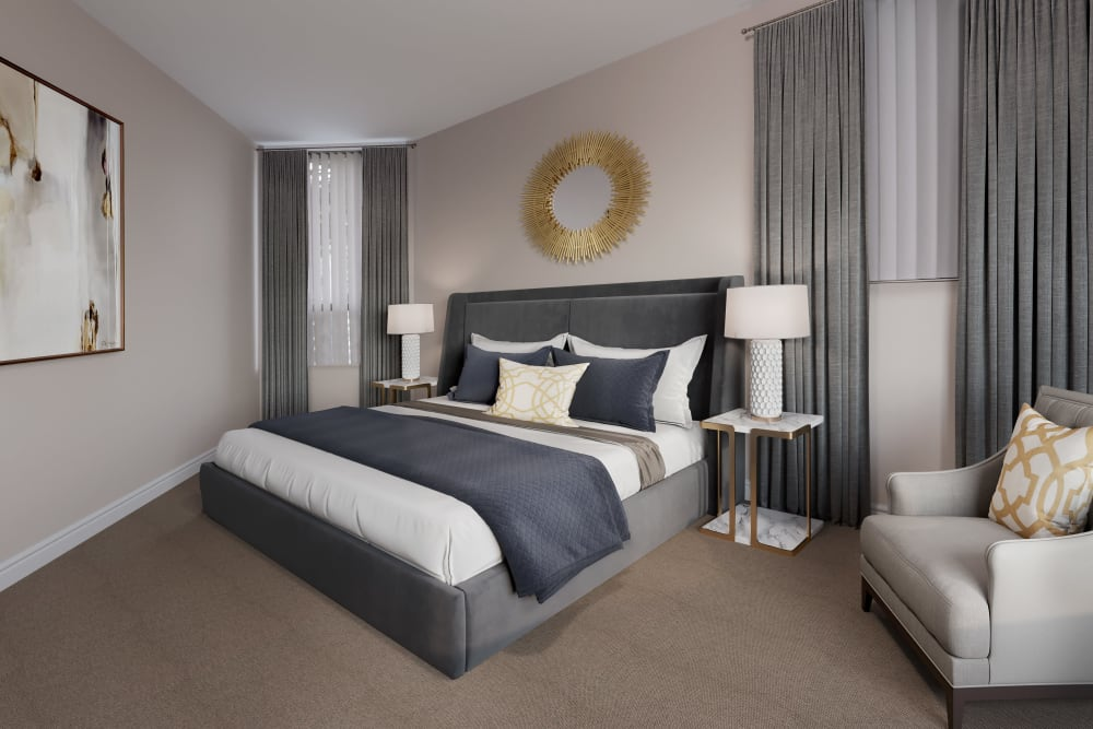 Wonderful master bedroom at The Galleria in North York
