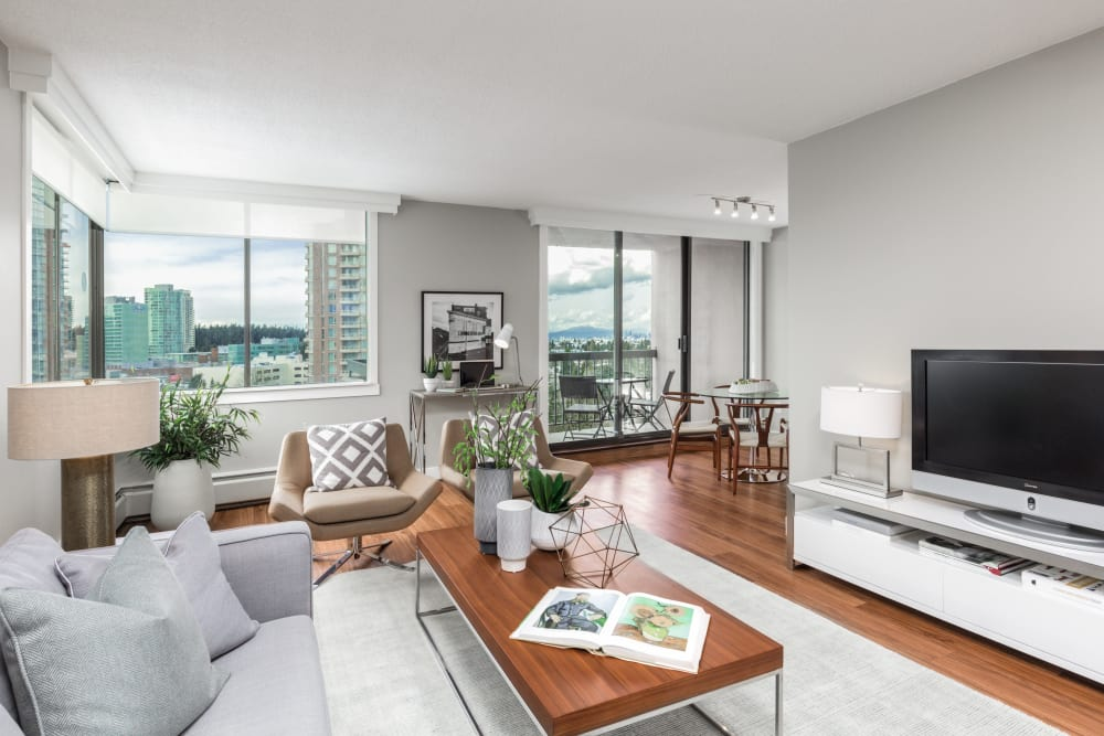 Open floor plans at Parkview Towers in Burnaby