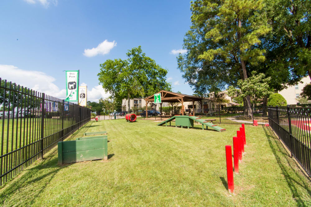 Onsite park for pets living at Deerbrook Forest Apartments