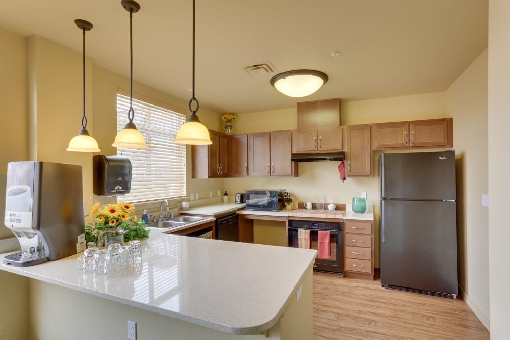 Fully equipped kitchen at Affinity at Billings