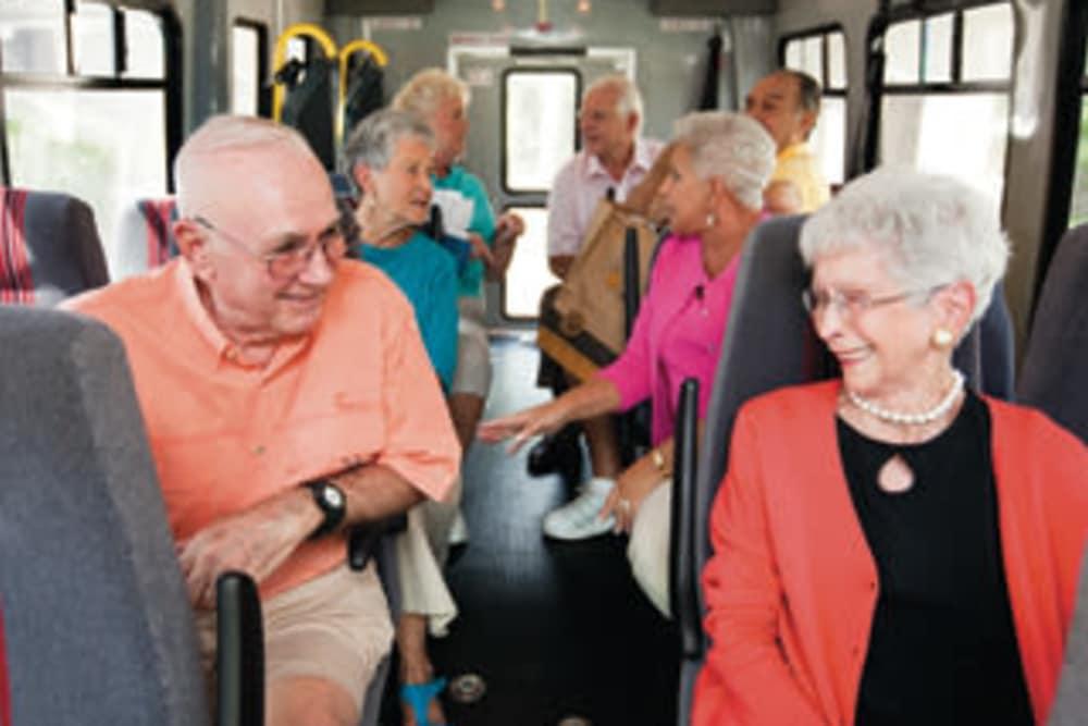 Friends on bus in Bonita Springs