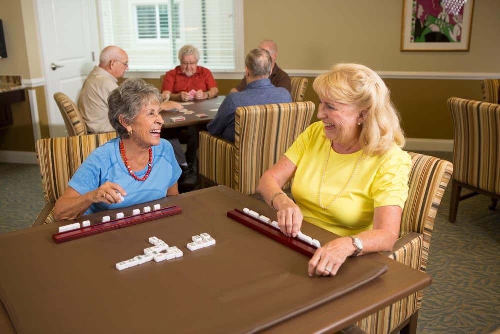 Playing dominoes in Bonita Springs