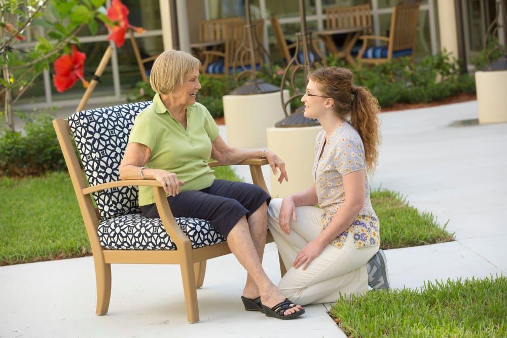Caretaker and patient in Bonita Springs