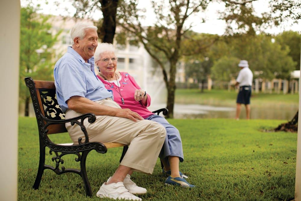 Couple in the park at Bonita Springs