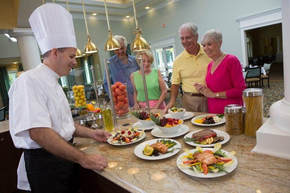 Gourmet meals for Discovery Senior Living residents