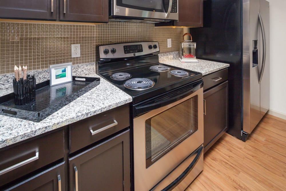 Modern apartments with a kitchen at Vista at Lost Lake