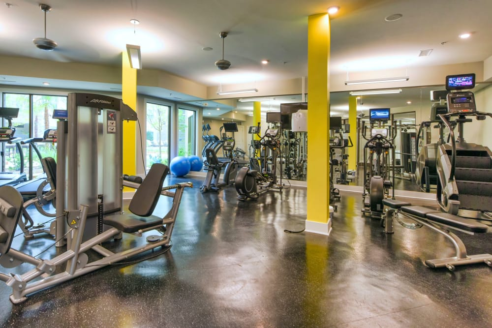 Fitness center at Axis Berewick in Charlotte, North Carolina