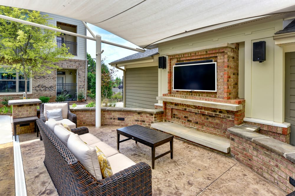 Outdoor lounge area at Axis Berewick in Charlotte, North Carolina