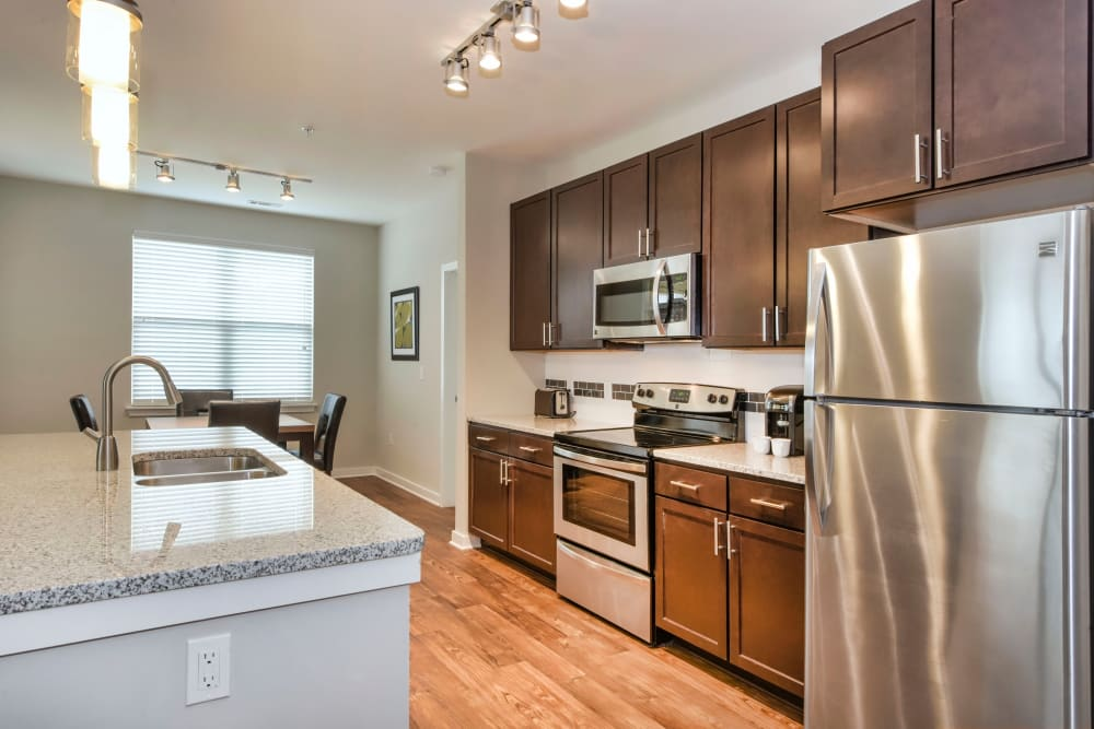 Spacious kitchen at Axis Berewick in Charlotte, North Carolina