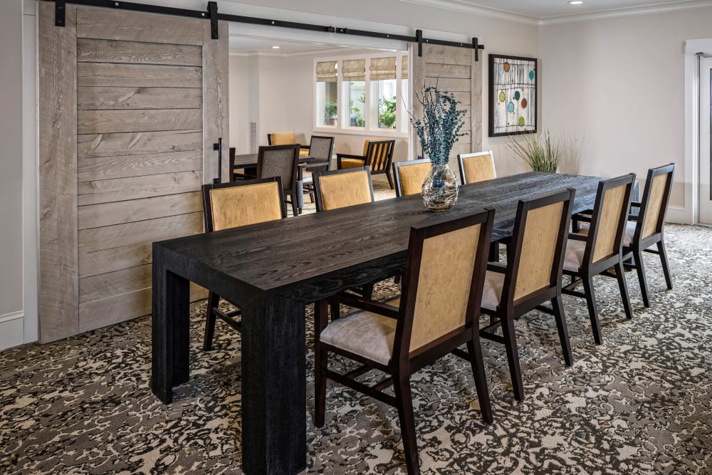 Enjoy our beautiful apartments dining room at Maplewood at Weston