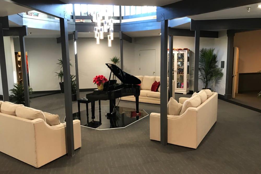 Beautiful piano at Heatherwood Senior Living in Boise, Idaho