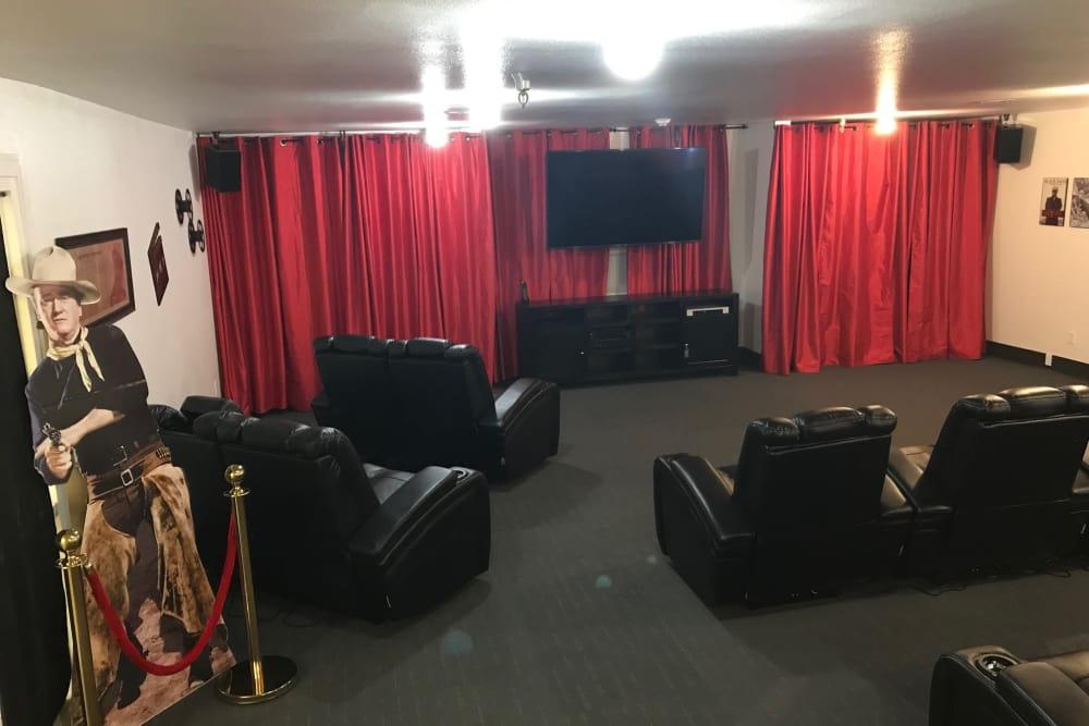 Movie theater at Heatherwood Senior Living in Boise, Idaho