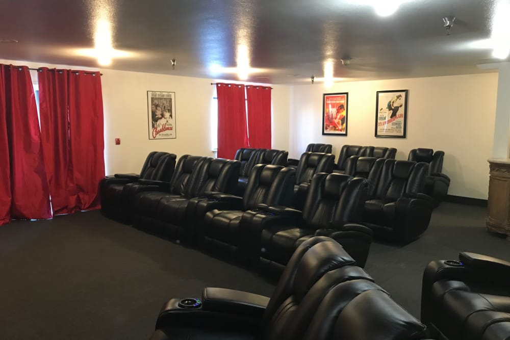 Our senior living facility in Boise, Idaho offer a movie theatre