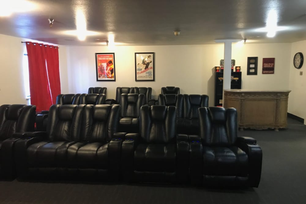 Heatherwood Senior Living has a movie theater in Boise, Idaho