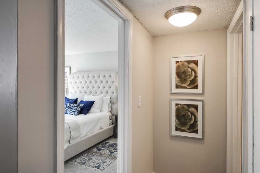 view of The Alcove apartment bedroom from hallway