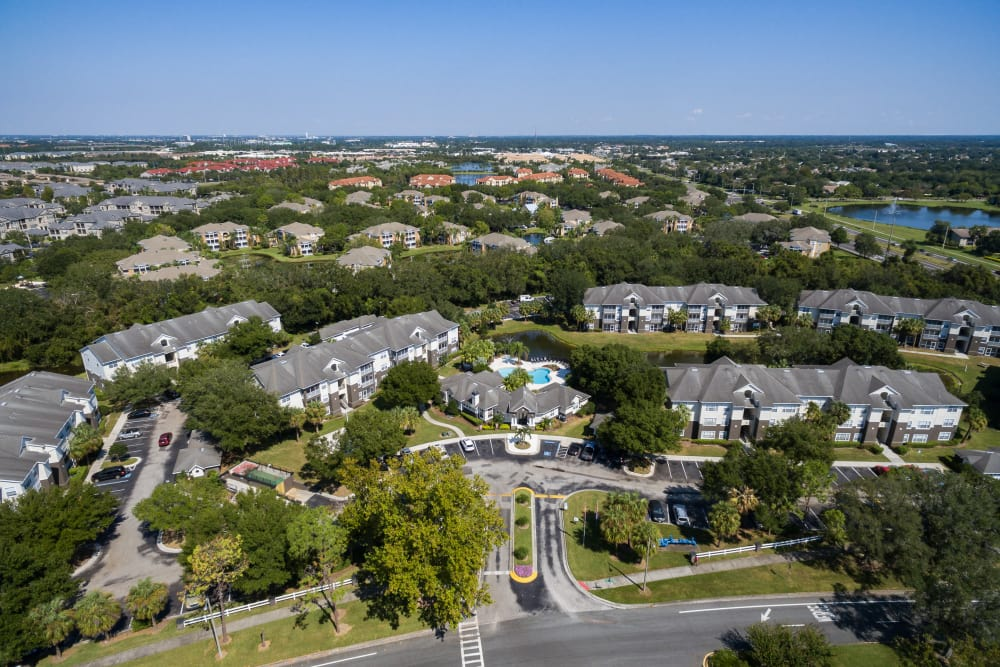 Aerial view of Tuscany Villas of Brandon Apartment Homes
