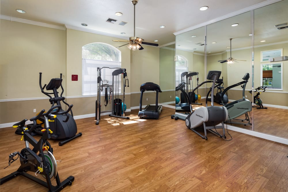 On-site fitness center at Tuscany Villas of Brandon Apartment Homes