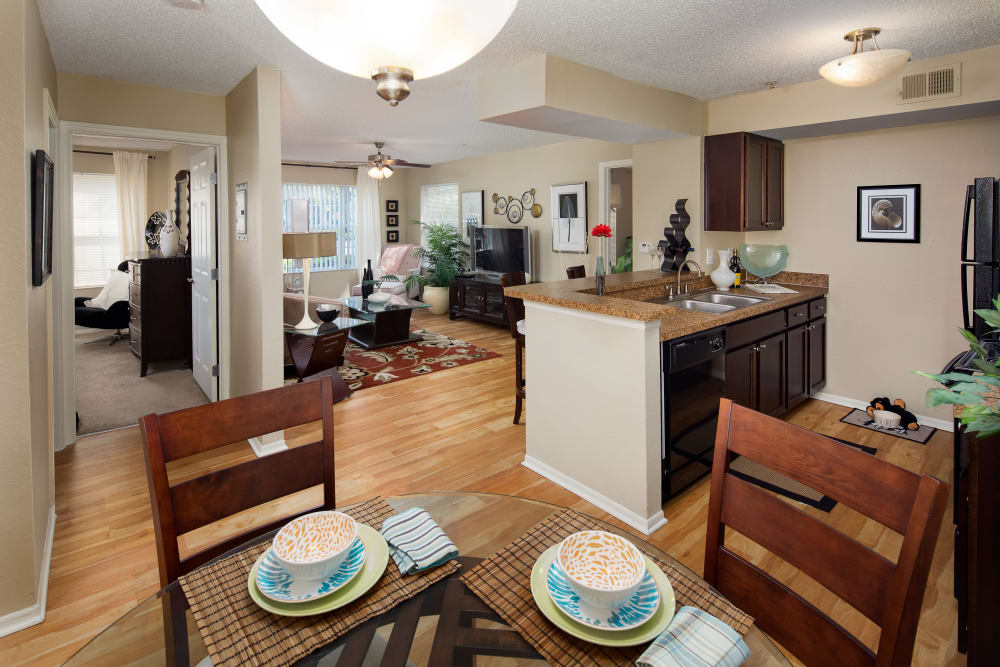 Spacious and open floor plan at Alvista Sterling Palms in Brandon, Florida