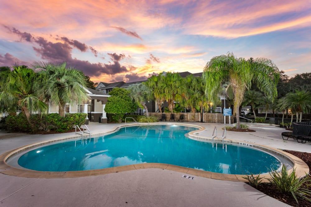 Swimming pool at Tuscany Villas of Brandon Apartment Homes
