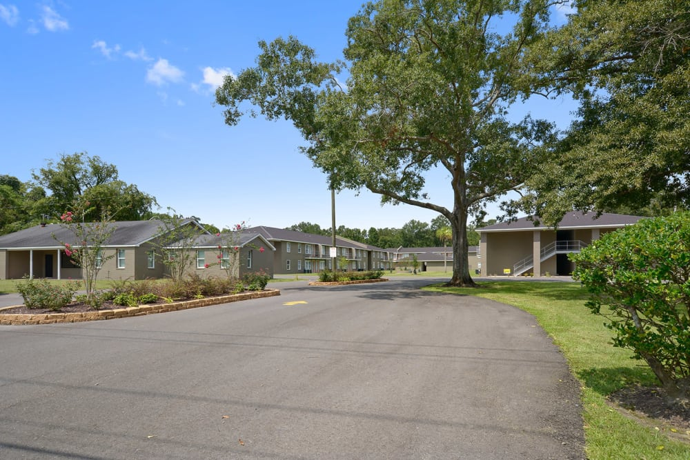Drive up to Avalon Apartment Homes