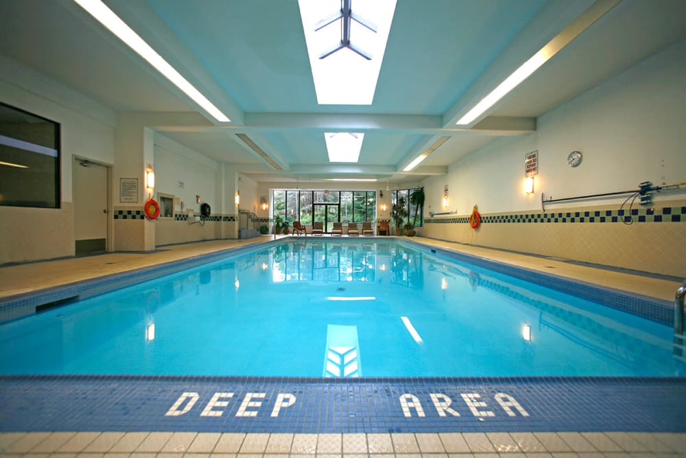 Indoor swimming pool at The Galleria in North York, ON