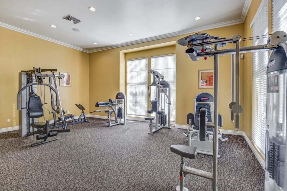 Fully equipped fitness center at Norterra Canyon Apartments