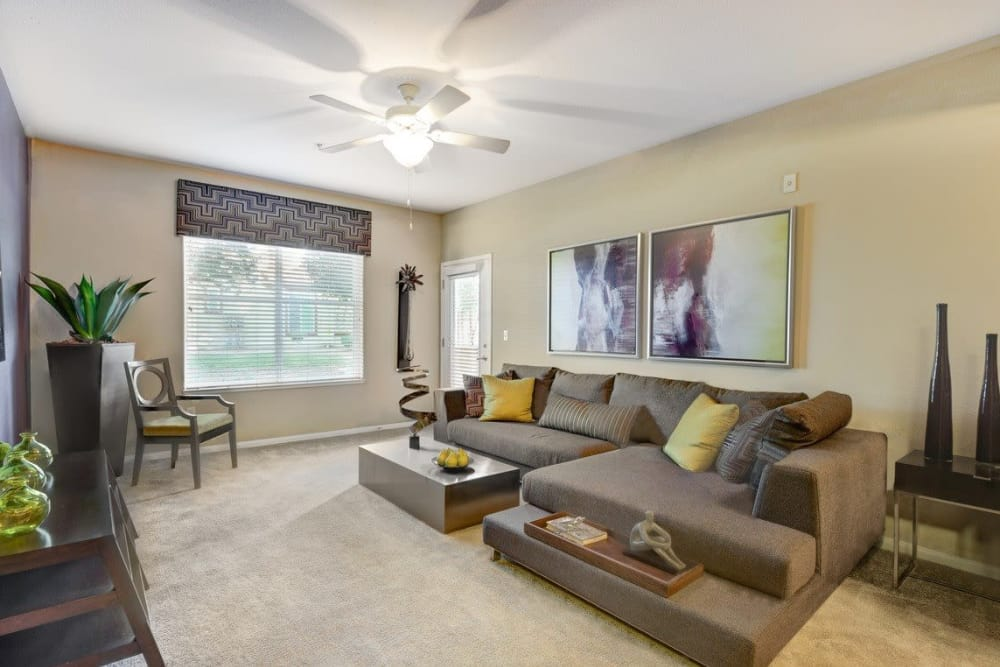 Living room at Norterra Canyon Apartments
