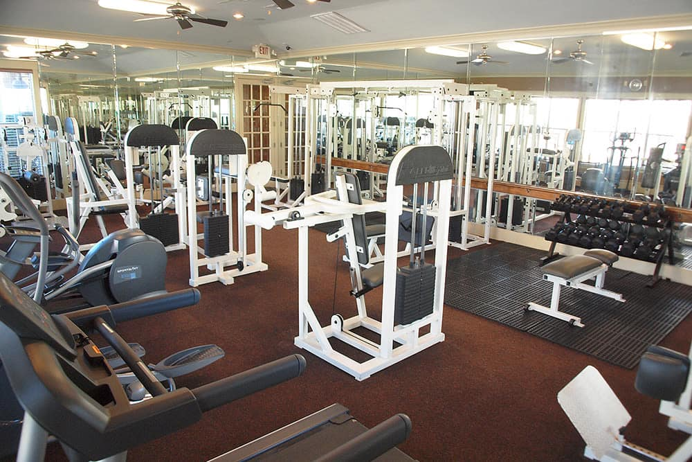 Fitness room at The Reserve by the Lake