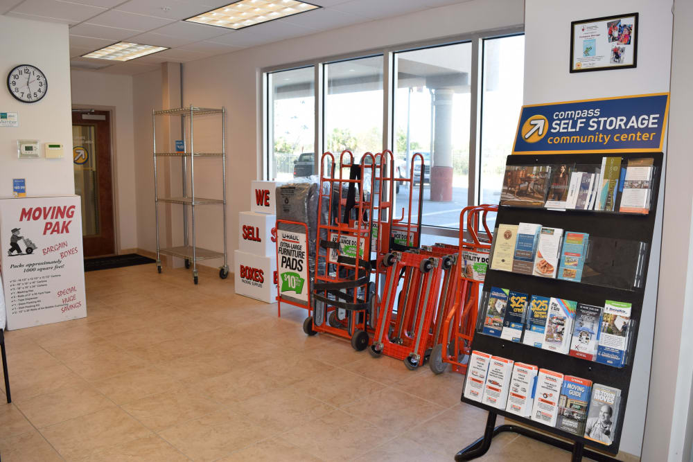 Compass Self Storage Supplies and Leasing Office